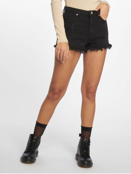 Missguided Short Highwaisted Extreme Fray Hem noir