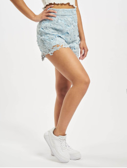 Missguided Shorts Co-Ord Crochet Lace  blu