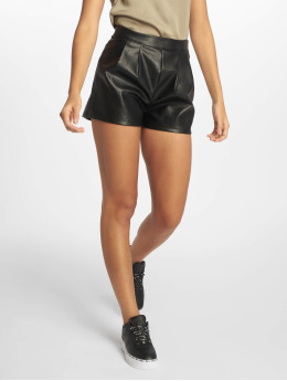 Missguided Shorts Faux Leather Turn Up sort