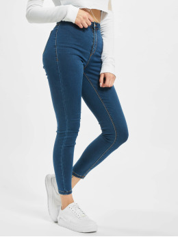 Missguided Skinny Jeans Petite Vice High Waisted blau