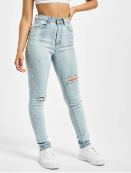 Missguided Skinny Jeans Sinner Multi Distress blue