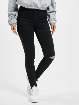 Missguided Skinny Jeans Vice Highwaisted Slash Knee  czarny