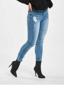 Missguided Skinny Jeans Sinner Clean Distressed niebieski