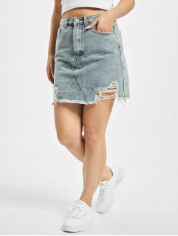 Missguided Skirt Distress Hem blue
