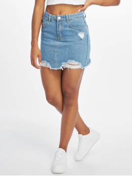 Missguided Skjørt Ripped Denim blå
