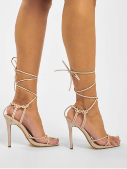 Missguided Slipper/Sandaal Super Strappy Square Toe Barley beige