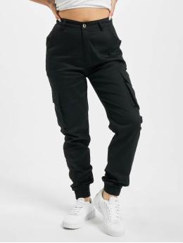 Missguided Spodnie Chino/Cargo Plain  czarny