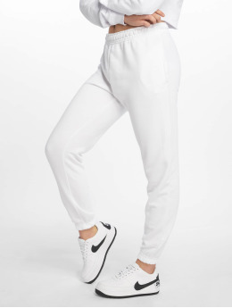 Missguided Spodnie do joggingu White Basic bialy