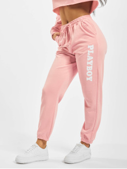 Missguided Spodnie do joggingu Playboy Lounge  rózowy