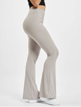 Missguided Spodnie do joggingu Ribbed Flare szary