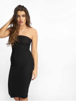 Missguided Sukienki Bandeau czarny