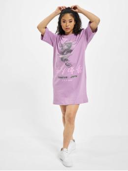 Missguided Sukienki Oversized T-Shirt SS Dragon  fioletowy