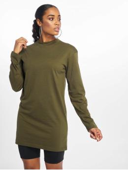 Missguided Sukienki Long Sleeve   oliwkowy