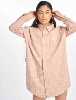 Missguided Sukienki Oversized Jersey Shirt pink