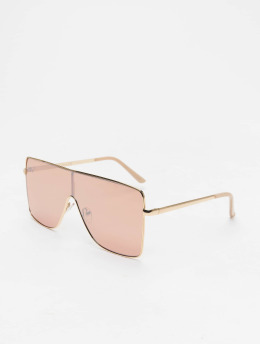 Missguided Sunglasses Large Clear Visor gold colored