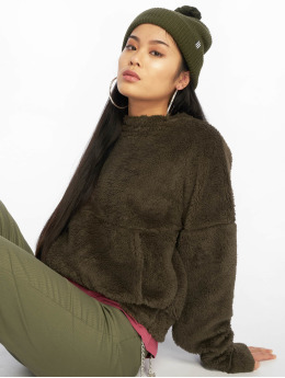 Missguided Sweat & Pull Borg Pocket Front olive