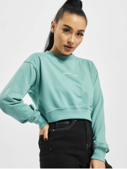 Missguided Sweat & Pull Cropped Rib Hem turquoise