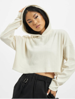 Missguided Sweat capuche Cropped blanc
