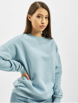 Missguided Swetry Oversized Crew Neck niebieski
