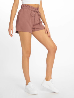 Missguided Szorty Pinstripe Gathered Waist rózowy