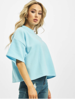 Missguided T-Shirt Fleece Oversized Coord blau