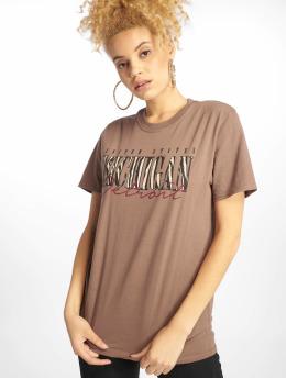 Missguided T-Shirt Michigan Leopard Print braun