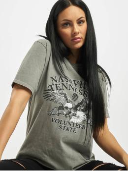 Missguided T-Shirt Nashville Eagle Graphic  grey