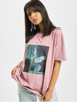 Missguided T-Shirt Overdyed Wings Photographic rose