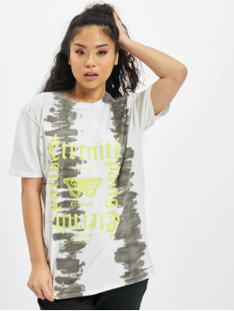 Missguided T-Shirty Tie Dye Butterfly Oversized Graphic bialy