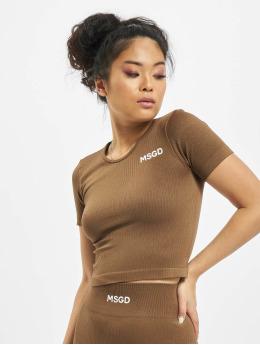 Missguided T-skjorter Seamless Rib brun