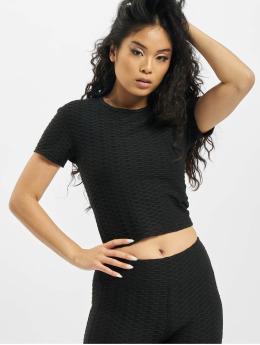 Missguided top Textured zwart
