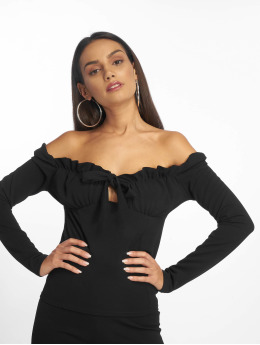 Missguided Topssans manche Bardot noir