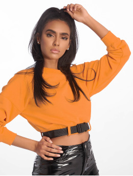 Missguided Topy/Tielka Belted Crop Sweat oranžová