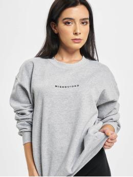 Missguided Trøjer Oversized  grå