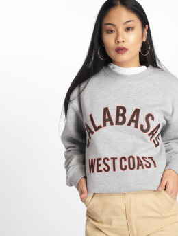 Missguided trui Calabasas West Coast Slogan grijs