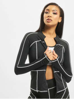 Missguided Übergangsjacke Contrast Panel Long schwarz