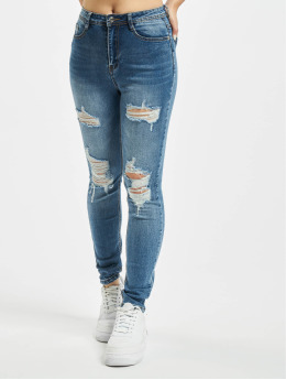 Missguided Vaqueros pitillos Petite Sinner Authentic azul
