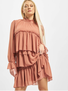 Missguided Vestido High Neck Tiered Smock naranja