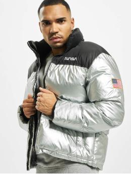 Mister Tee Стеганая куртка Nasa Two-Toned  серебро
