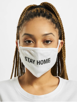 Mister Tee Autres Stay Home Face Mask blanc