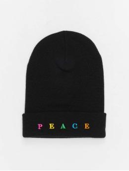 Mister Tee Beanie Peace zwart