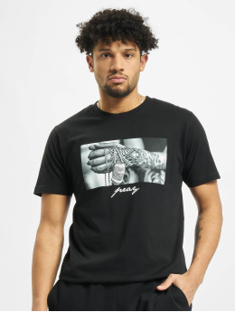 Mister Tee Camiseta  Pray 2.0 negro