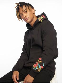 Mister Tee Felpa con cappuccio Flowers Embroidery nero