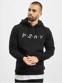 Mister Tee Hoodies Pray Wording čern