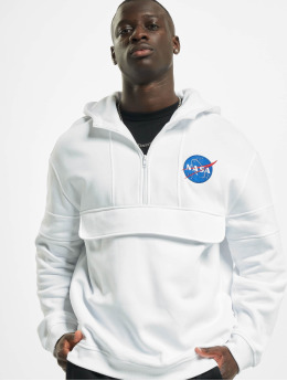 Mister Tee Hoodies Nasa Chest Embroidery bílý