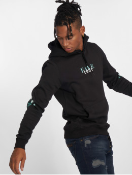 Mister Tee Hoody Rose Fake Love zwart