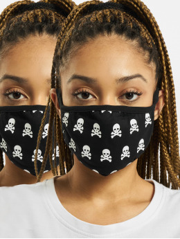 Mister Tee More Skull Face Mask 2-Pack black