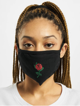 Mister Tee More Rose Face Mask black