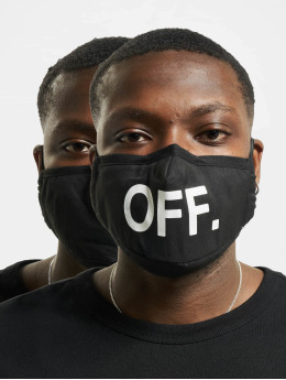 Mister Tee Overige Face Mask Off 2-Pack zwart