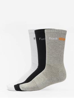 Mister Tee Ponožky Fuck Off 3-Pack  čern